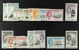1954-62  Ships Definitives Set Of 15 Complete, SG G26/G40, Plus ½d, 1d, And 1½d Additional Listed Shades, SG G26a, G27b  - Falkland