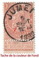 """COB N° 57 - Belle Oblitération """"JUMET"""" + Défaut D'Impression (Voir Scan) - 1893-1900 Barbas Cortas"""