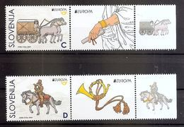 SLOVENIA 2020,EUROPA CEPT,ANCIENT POSTAL ROUTES,HORSES,VIGNETTE,MNH - Eslovenia