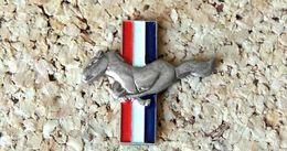 Pin's Ford Mustang Logo Découpé - Métal, Peint Cloisonné - Fabricant Inconnu - Ford