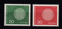 & Allemagne 483 / 484  .. Europa CEPT 1970 .. Sans Charnier ** MNH ... - Europa-CEPT