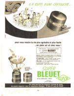 """PUB   """" BLEUET """"  1959 (1) - Camping"""