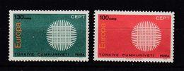 & Turquie 1252 / 1253   .. Europa CEPT 1970 .. Sans Charnier ** MNH .. Cote 2020 = 3.00 € .. - Europa-CEPT