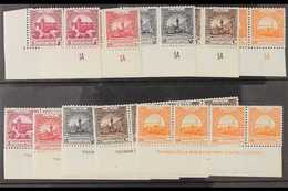 OBLIGATORY TAX  1951 Complete Sets, SG T302/06, Never Hinged Mint Upper Right Corner SHEET NUMBERS PAIRS, Lower Left Cor - Jordania