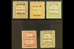 OCCUPATION OF PALESTINE  1948 Postage Due Set, Perf 12, Complete, SG PD25/9, Very Fine And Fresh Mint. (5 Stamps) For Mo - Jordania