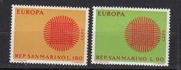 & Saint Marin 762 / 763   .. Europa CEPT 1970 .. Sans Charnier ** MNH .. - Europa-CEPT