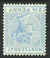 1885  2½d Ultramarine, Watermark Inverted, SG 10w, Fine Mint. For More Images, Please Visit Http://www.sandafayre.com/it - Montserrat