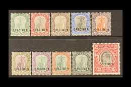 """1903 - SPECIMEN  KEVII Complete Set, CA Wmk, Overprinted """"SPECIMEN"""", SG 14s/23s, Very Fine Mint (10 Stamps) For More Ima - Montserrat"""