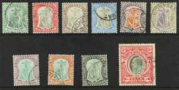 1903  Complete Set, SG 14/23, Superb Cds Used. (10 Stamps) For More Images, Please Visit Http://www.sandafayre.com/itemd - Montserrat