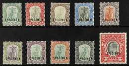 "1903  Complete Set With ""SPECIMEN"" Overprints, SG 14s/23s, Fine Mint, Fresh. (10 Stamps) For More Images, Please Visit H - Montserrat"