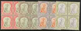 1904-08  1d, 2d, 3d And 6d, SG 25/26, 28/29, Fine Mint Or Nhm Blocks Of Four. (4 Blocks) For More Images, Please Visit H - Montserrat