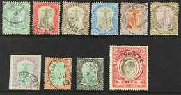 1904-08  Complete Set, SG 24/33, Superb Cds Used. (10 Stamps) For More Images, Please Visit Http://www.sandafayre.com/it - Montserrat