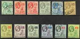 1916-22  Complete Set, SG 49/89, Plus 1d Carmine-red, Superb Cds Used. (12 Stamps) For More Images, Please Visit Http:// - Montserrat