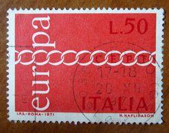 1971 ITALIA Europa - Catena - Lire 50 Usato - 1971-80: Gebraucht