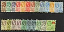1922-29  Script Watermark Set Complete, SG 63/83, Plus 2½d Deep Bright Blue Shade, Fine Mint. (22 Stamps) For More Image - Montserrat