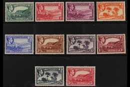 1938  Pictorials Perf 13 Complete Original Set, SG 101/10, Fine Mint, Fresh. (10 Stamps) For More Images, Please Visit H - Montserrat
