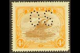 OFFICIALS  4d Light Brown & Orange, SG O51, Very Fine Mint For More Images, Please Visit Http://www.sandafayre.com/itemd - Papua New Guinea