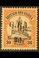 AUSTRALIAN OCCUPATION  1914-15 (German New Guinea Surcharged) 3d On 30pf Black & Orange/buff, SG 8, Fine Mint For More I - Papua New Guinea