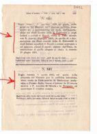 1923 Regio Decreto - Regia Università Napoli - BERGAMo Scuola Tecnica - Scuola Normale Di MODICA - Décrets & Lois