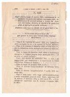 1923 Regio Decreto - Istituto Assicurazioni Polizze Speciali Decorati Ordine Militare Savoia Medaglia Al Valor Militare - Décrets & Lois