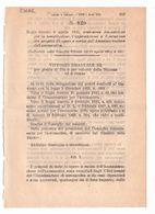 1923 Regio Decreto - Disposizioni Progetti A Carico Dell' AERONAUTICA - Décrets & Lois