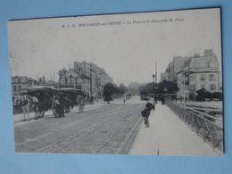 BOULOGNE BILLANCOURT -- Le Pont Et La Chaussée Du Pont - Attelages - Tramway Au Loin - ANIMEE - Boulogne Billancourt