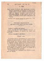 1923 Regio Decreto - Governo Re Donazione Del Sovrano MONCALIERI MILANO VENEZIA FIRENZE NAPOLI PALERMO - Décrets & Lois