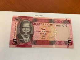 Sudan 5 Pounds Uncirc. Banknote 2015 - Soedan