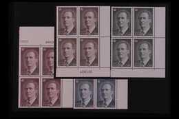 1996  King Juan Carlos High Values Set Complete, SG 3408/11 (Edifil 3461/64), Never Hinged Mint BLOCKS OF FOUR (4x Block - Spain