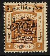 """1923  (1st March) 5/10p On 3m Yellow Brown, With """"Arab Government Of The East"""" Overprint In Black SG 84a, Fresh Unused W - Jordania"""