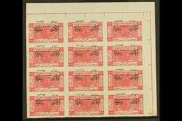 1925  2 Aug) ½p Carmine IMPERF WITH INVERTED OVERPRINT Variety, As SG 137a, Fine Never Hinged Mint Upper Right Marginal  - Jordania