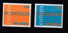 & Saint Marin 782 / 783  .. Europa CEPT1971 .. Sans Charniere** MNH .. - Europa-CEPT