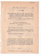1923 Regio Decreto - Professioni Sanitarie Laureati Diplomati All'estero Rimpatriati Per La Guerra - Medicina Medico - Décrets & Lois