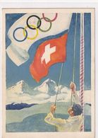 Winterolympiade St.Moritz - 6 Offiz.AK - Signiert   (P-257-00410) - Inverno1948: St-Moritz