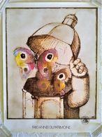 AFFICHE ANCIENNE ORIGINALE 1980 Année Du Patrimoine Illustration André François Pour Le Ministère De La Culture Papillon - Afiches