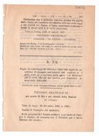 1923 Regio Decreto - Terre Liberate Dal Nemico - Guerra - Décrets & Lois