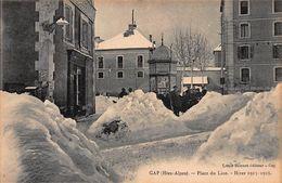 CPA GAP (Htes-Alpes) - Place Du Lion - Hiver 1915-1916 - Gap