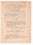 1923 Regio Decreto - Pensioni Ordinarie Poste E Telegrafi - Posta Telegrafo - Décrets & Lois