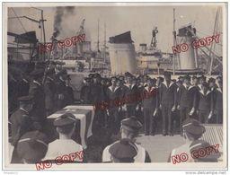 Au Plus Rapide Marine Nationale Remise De Diplôme Pont Bâtiment De Guerre Photo H Maurel 1934 - Guerre, Militaire