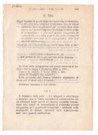 1923 Regio Decreto - Ministero Poste Telegrafi Cassa Nazionale Assicurazioni Posta Guardafili Telegrafo Telefono - Décrets & Lois