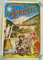 AFFICHE TOURISME LA PRESTE LES BAINS ETABLISSEMENT THERMAL PYRENNEES Illustrateur Reproduction Années 80 - Afiches