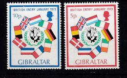 & Gibraltar 282 / 283.. Europa CEPT 1973 .. Espace Satellite** MNH ... Cote YT 2020 = 2.50 € - Europa-CEPT
