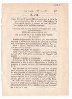 1923 Regio Decreto - Questore - Polizia - Pubblica Sicurezza - Décrets & Lois