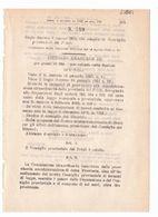 1923 Regio Decreto - Scioglimento Consiglio Provinciale Del Friuli (friuli Venezia Giulia) - Décrets & Lois