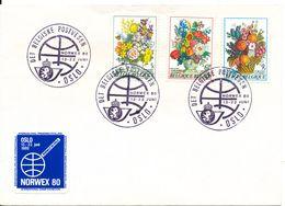 Belgium Cover Det Belgiske Postvesen Norwex Norway Oslo 13-22/6-1980 With Norwex 80 Seal - Bélgica
