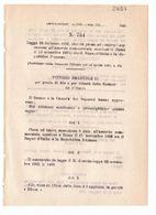 1923 Regio Decreto - Accordo Commerciale Tra Regno D'italia E Repubblica Francese Francia - Décrets & Lois