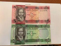 Sudan Lot Of 2 Uncirc. Banknotes 2015 - Soedan