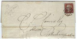 GRANDE BRETAGNE 1842: Superbe LAC De Londres Pour Rotherham (Yorkshire) Avec Le Y&T 3, Oblitération ''Croix De Malte'' - Briefe U. Dokumente