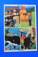 TINTIN & MILOU COLLECTION AUTOCOLLANT PLANCHE N° 2 OFFERT PAR LES FLANS & DESSERTS ALSA- PUBLICITÉ - Stickers