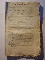 BULLETIN DES LOIS N°241 DU 4 NOVEMBRE 1818 - ARMEE RECRUTEMENT INSTRUCTION APPELS 2ème PARTIE MILITAIRE - LEGS JUDAICA - Décrets & Lois